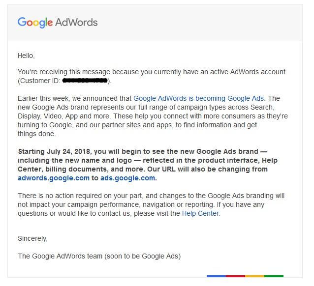 Google thông báo thay đổi Google Adwords thành Google Ads